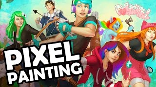 Pixel Painting Minecraft Youtubers: Chad Alan Dollastic JH Audrey SallyGreenGamer EXORandy Cyb3rn0va