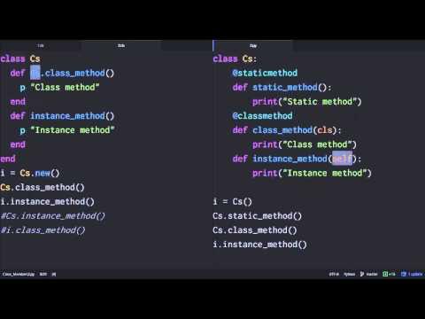 Python & Ruby - 클래스 맴버 3 : 클래스 메소드 Python