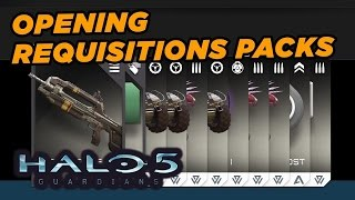 Opening a Bunch of Requisition Card Packs - Halo 5: Guardians Gameplay