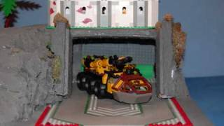 Thunderhawk 2 leaving base / Lego Rock Raiders