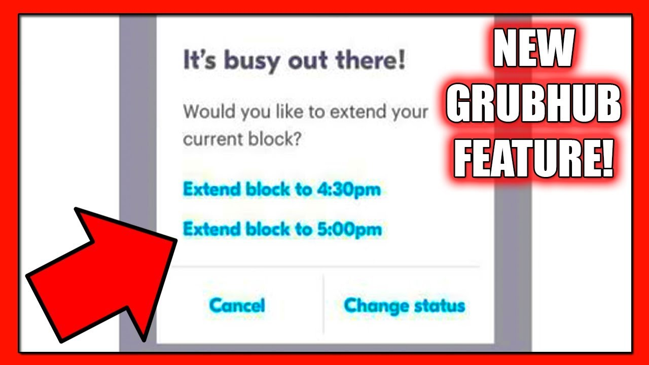 New GrubHub Feature for Blocks! Did you know about this? (GrubHub Delivery  Driver App Tips 2018)