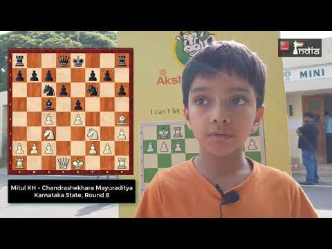 8-year-old Mitul KH Shows Chess Understanding Of A Veteran!