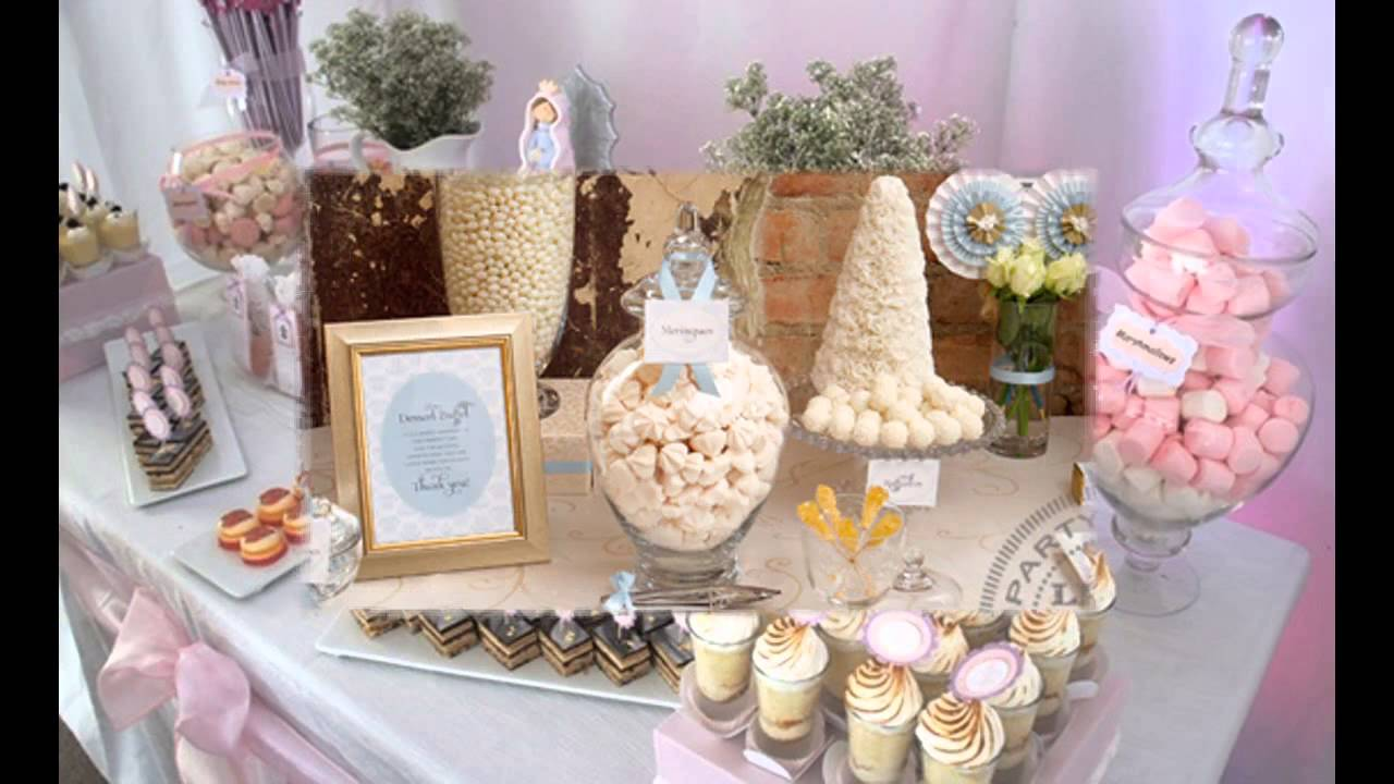 Creative first communion party decorations ideas youtube for 1st communion decoration ideas