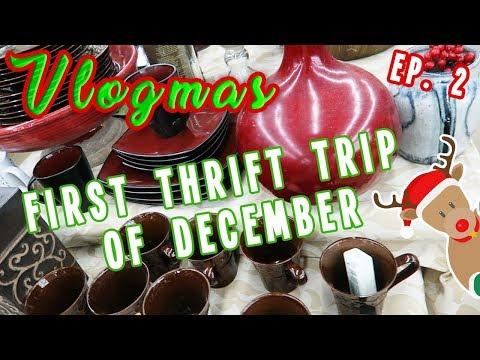 FIRST THRIFT TRIP OF DECEMBER | VLOGMAS DAY 2