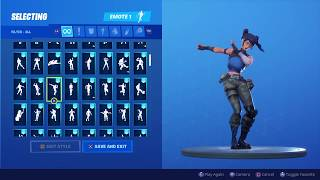 (New Crystal Skin!) With all my Fortnite Emotes!