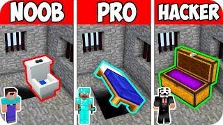 Minecraft NOOB vs PRO vs HACKER : POLICE SECRET PRISON ABANDON