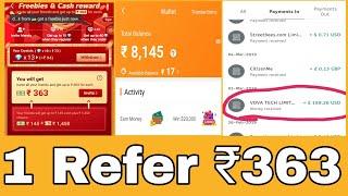 Download lagu Vova App Biggest Update Per Refer 363 Rs No Minimum Redeem Bank Cash Loot Offer Live Proof MP3