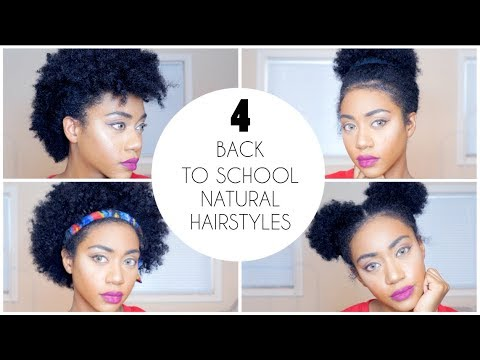 4 Easy Back To School Natural Hairstyles For Short Hair Youtube
