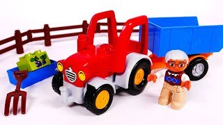 Tractor Farm Vehicle Building Blocks for Kids