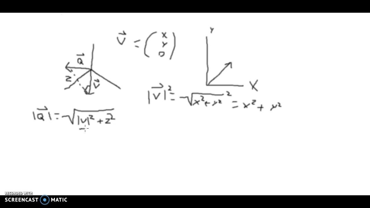 Mat A: Vektor i rummet: Basale principper fra plane vektorer