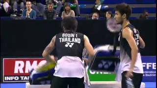French Open 2012 - Lee Yong Dae / Ko Sung Hyun vs Issara Bodin / Jongjit Maneepong