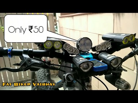 How to Install Motorbike LIGHT in BICYCLE  in   ₹ 50 only.