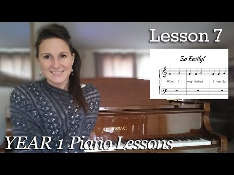 Lesson 7: 2 Pieces in Treble Clef| Free Easy Beginner Piano Tutorial - [Year 1]Lesson 1-7