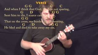 How Great Thou Art (HYMN) Ukulele Cover Lesson in G with Chords/Lyrics