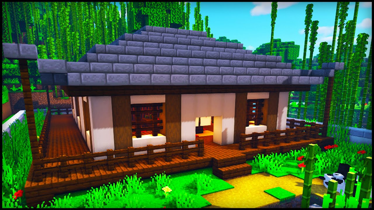 Minecraft Japanese Survival House How To Build A Japanese House In Minecraft Tutorial Youtube
