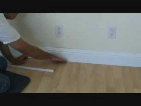 How to install a hardwood floor without removing the