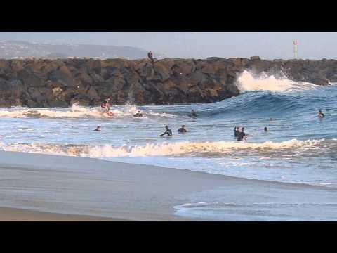 Newport Beach, CA, Wedge Surf 3ft - 5ft, 4/18/2014 - Part 2