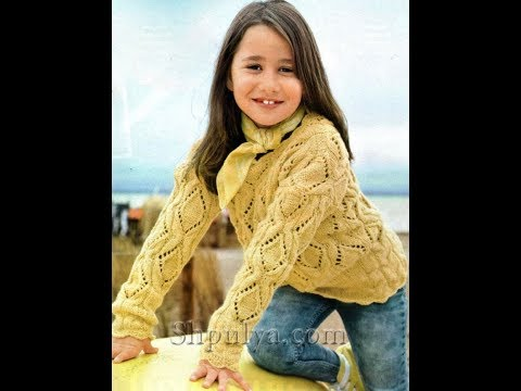 Джемпер для Девочки 8 лет Спицами - 2019 / Sweater For Girl 8 Years / Pullover Für Mädchen 8 Jahre