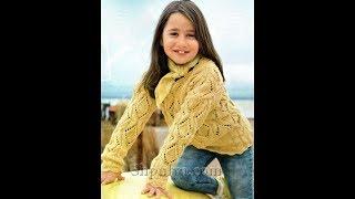 Джемпер для Девочки 8 лет Спицами - 2018 / Sweater for Girl 8 years / Pullover für Mädchen 8 Jahre