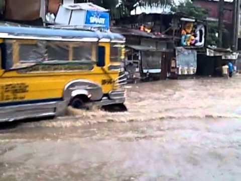 Floods in Barangay Pansol, Laguna
