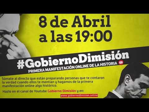 GRAN MANIFESTACIÓN DIGITAL Contra El GOBIERNO De PEDRO SÁNCHEZ Por El CORONAVIRUS
