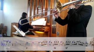 Leopold Mozart Adagio tenor trombone trombone & organ