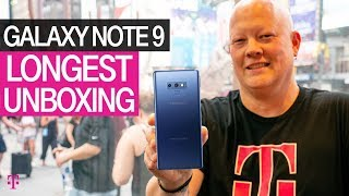 NEW Samsung Galaxy Note 9 LONGEST UNBOXING Yet | T-Mobile