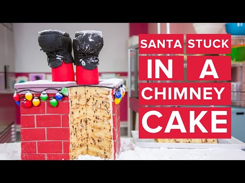 Santa Stuck in a Chimney CAKE! | Christmas Baking | How To Cake It