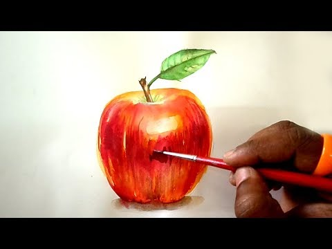 Apple Watercolor Painting Tutorial for Beginners Step by Step