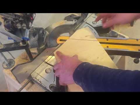 Cutting hexagon on chop saw simple!!