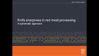 Knife sharpness in red meat processing