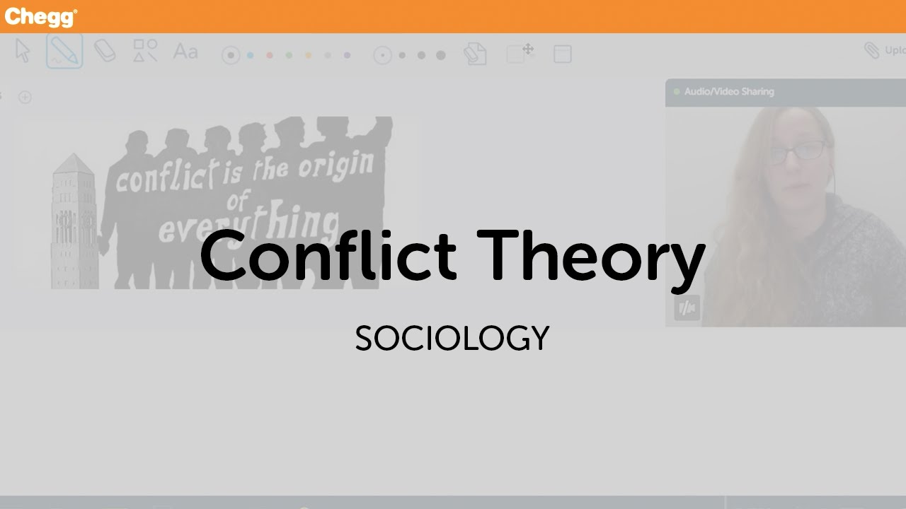 conflict theory sociology chegg tutors