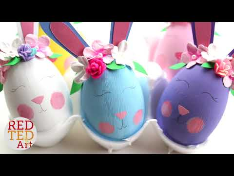 Easter Bunny Eggs - Flower Bunny DIY Eggs - Egg Decorating