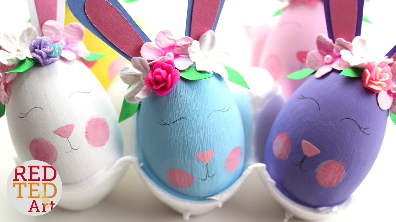 Easter Bunny Eggs Flower Bunny Diy Eggs Egg Decorating Youtube