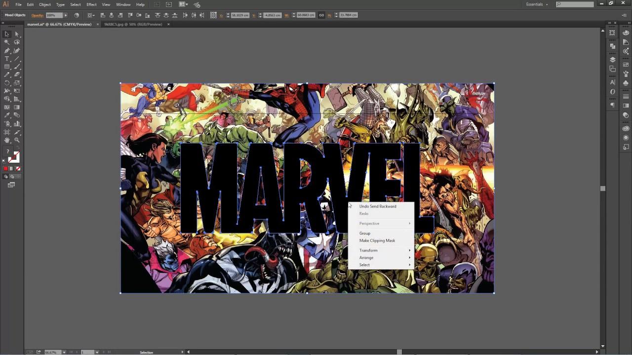 how to make text logo illustrator
