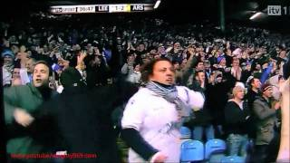 Bradley Johnson's goal (Leeds vs Arsenal 19/1/11) AMAZING GOAL!!