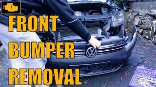 Front bumper removal vw Touran - Demontaż zderzaka przedniego Vw Touran 1t3