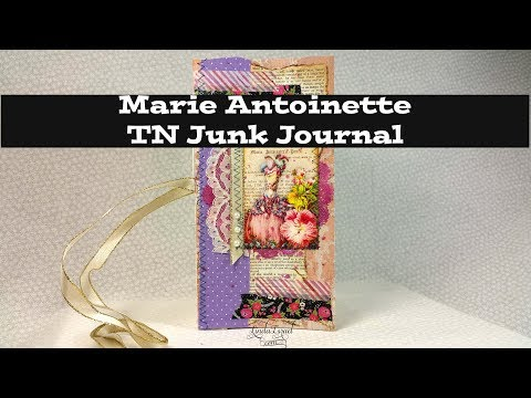 How to make a Marie Antoinette TN Junk Journal