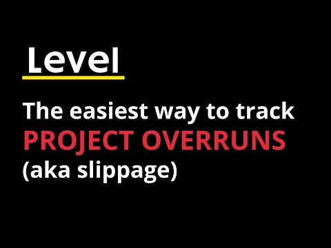The easiest way to track project overruns (aka slippage)