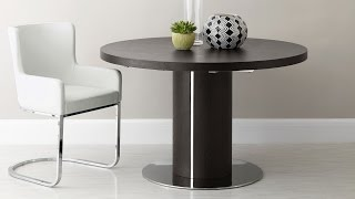 Curva Round Wenge Extending Dining Table