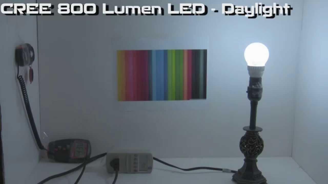 [Lightbulb Test Data] Cree 800 Lumen LED - Daylight & Lightbulb Test Data] Cree 800 Lumen LED - Daylight - YouTube azcodes.com