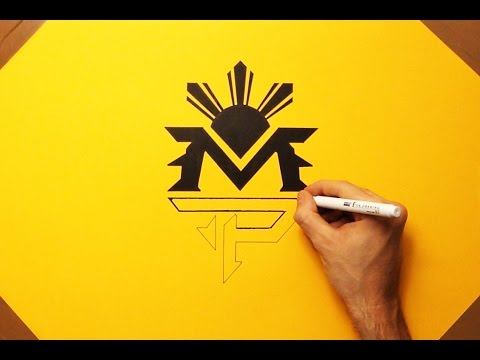 How To Draw Manny Pacquiao Logo PAC MP Boxing - Speed Drawing