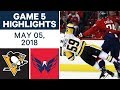 NHL Highlights | Penguins vs. Capitals, Game 5 - May 05, 2018