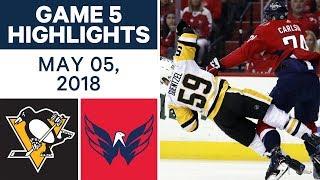 NHL Highlights | Penguins vs. Capitals, Game 5 - May 05, 2018