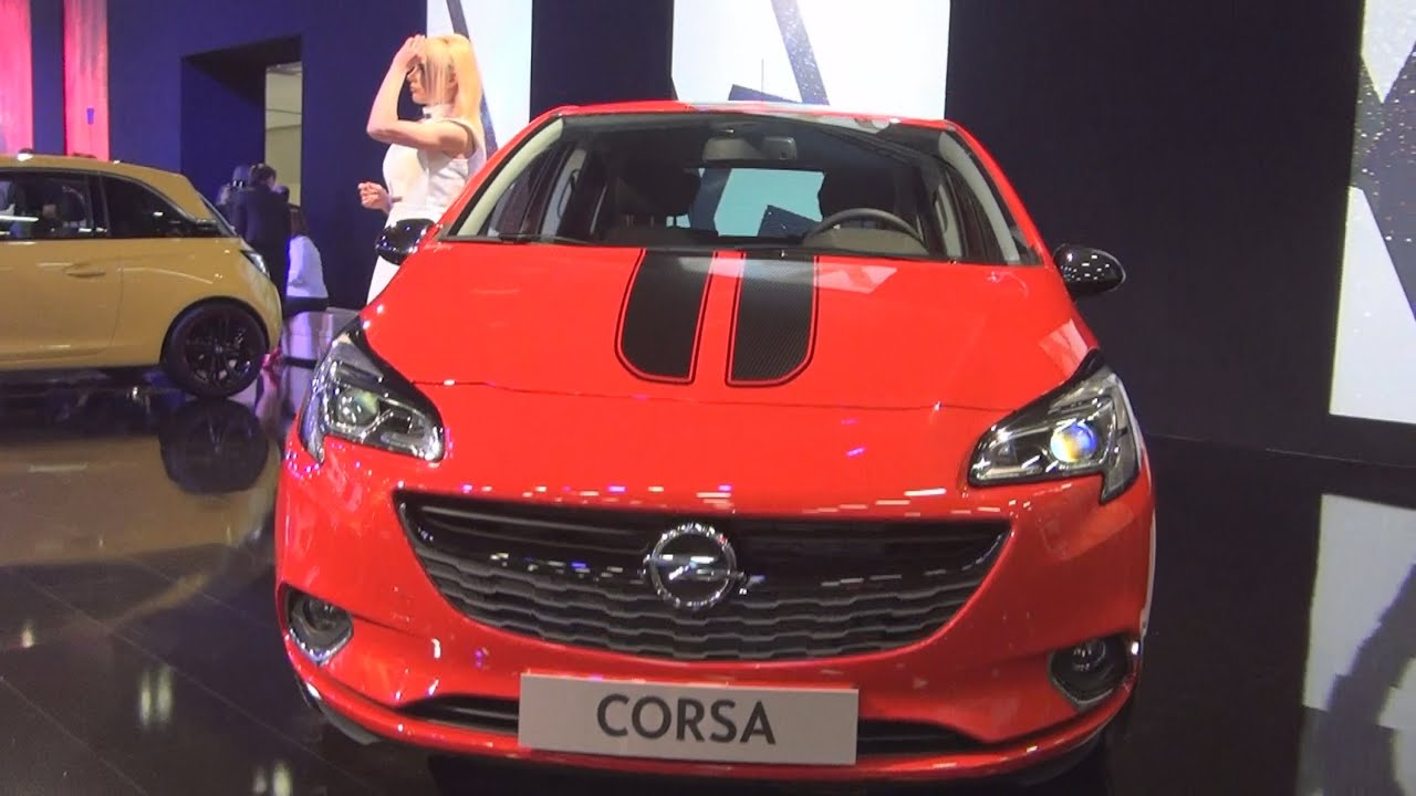 opel new corsa 5 doors 1 4 90 hp at6 color edition magma red 2015 exterior and interior in 3d. Black Bedroom Furniture Sets. Home Design Ideas