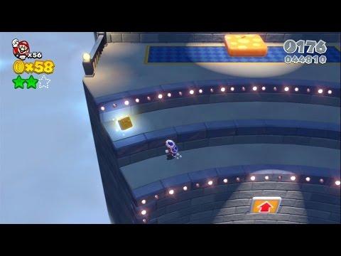 Super Mario 3D World: 5-2 Tricky Trapeze Theatre (100 % All Stars & Stamp) [Gameplay Walkthrough]