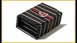 Hướng dẫn gấp hộp quà có nắp không cần dán keo trong 5 phút| Make paper box with lid