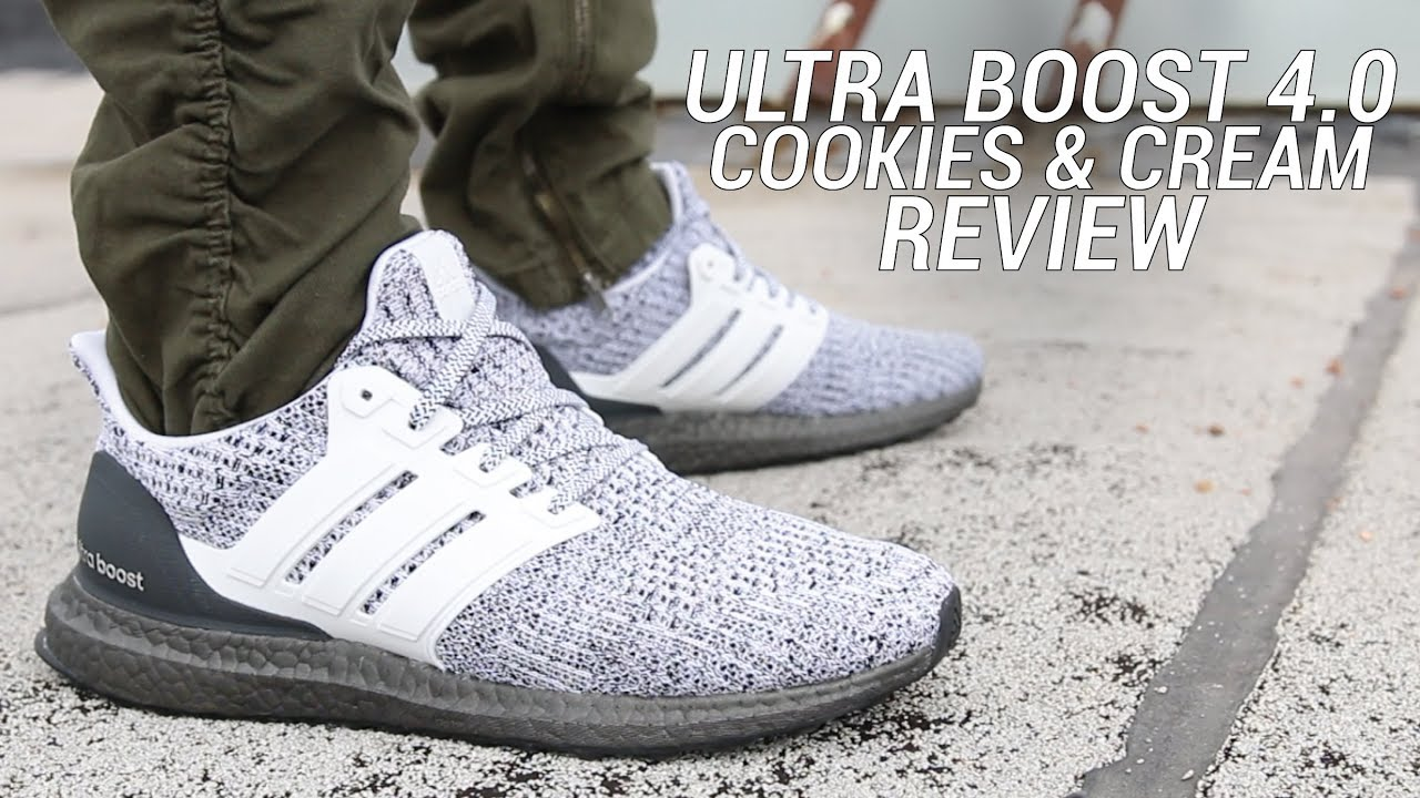 23bd7046b ADIDAS ULTRA BOOST 4.0 COOKIES AND CREAM REVIEW - YouTube