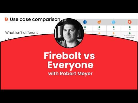 Firebolt vs Snowflake