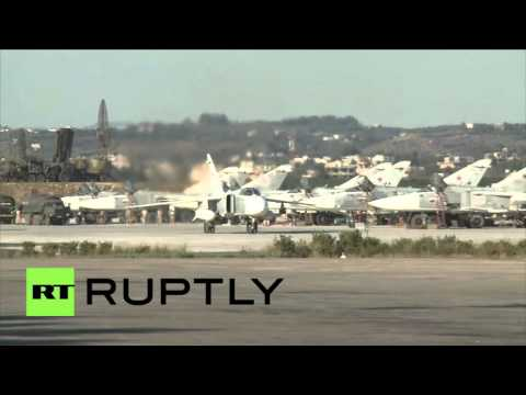 Syria: Russian fighter jets take to skies from Latakia airbase